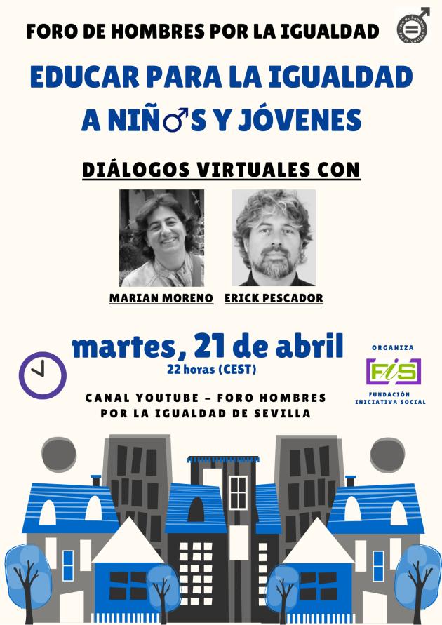 Marian Moreno y Erick Pescador: educar para la igualdad a niñ@s y a jóvenes.