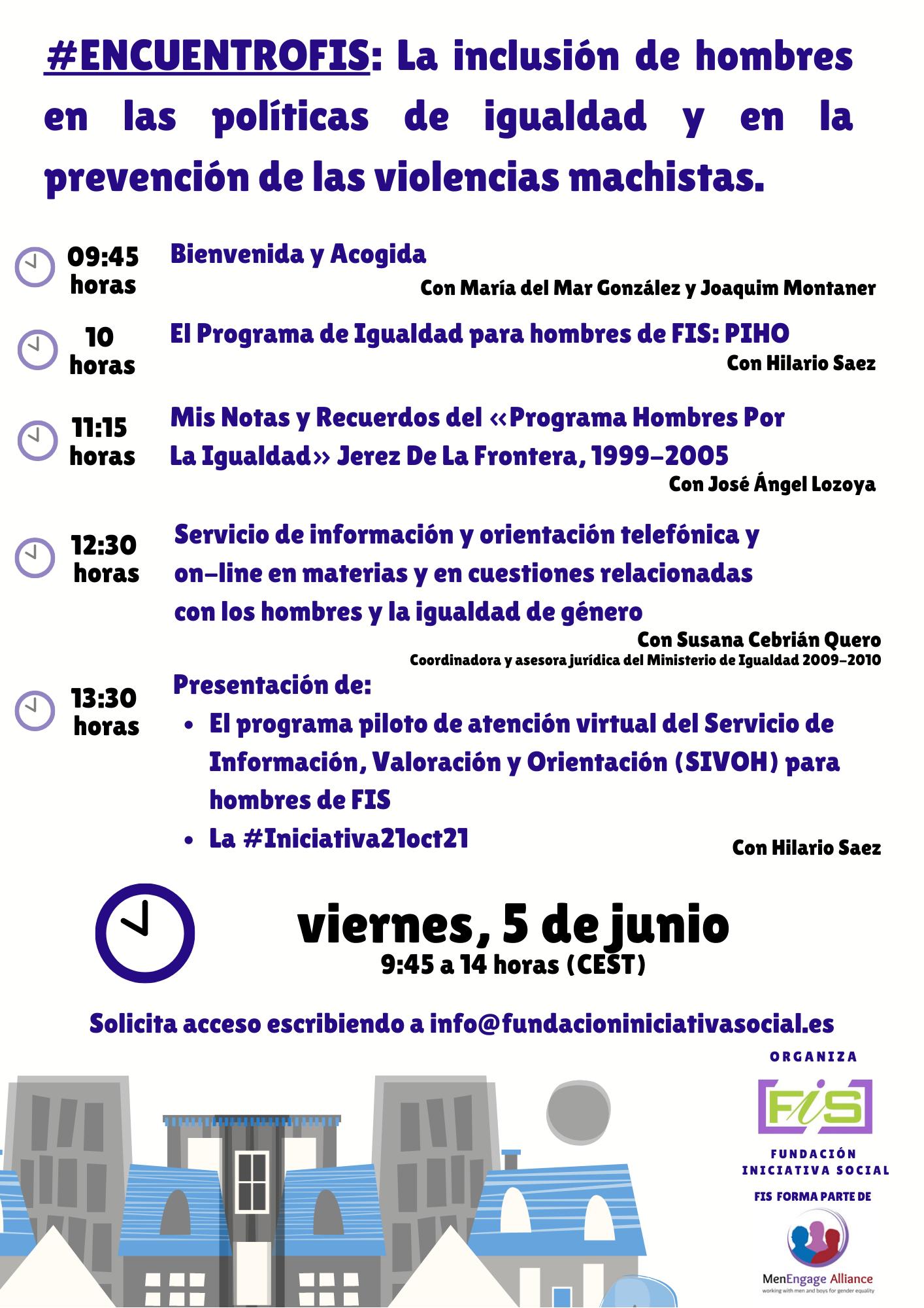 #EncuentroFIS: La inclusión de hombres en las políticas de igualdad y en la prevención de las violencias machistas.