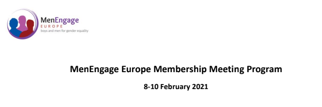 MenEngage Europe Membership Meeting Program