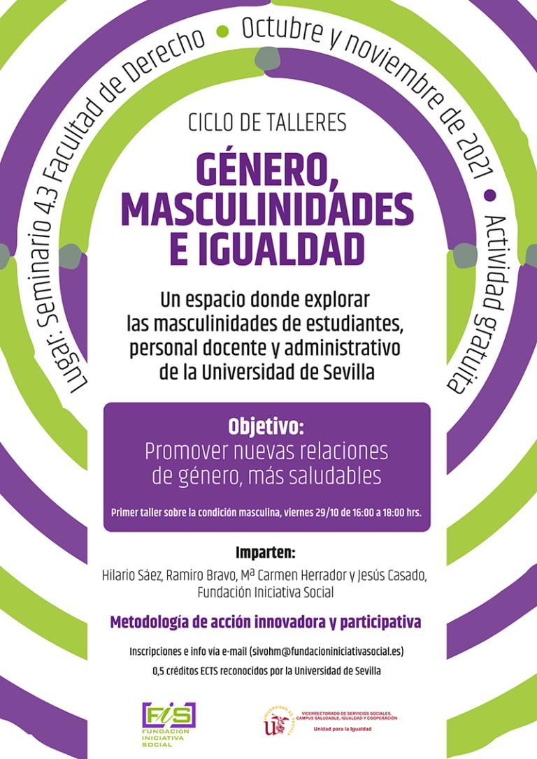 Lee más sobre el artículo Abierta la inscripción en el Ciclo de talleres de Género, Masculinidades e Igualdad